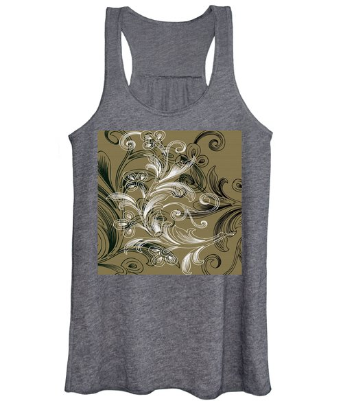 Coffee Flowers 4 Olive Women's Tank Top