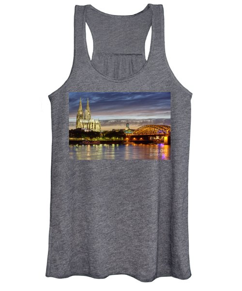 Cologne Cathedral With Rhine Riverside Women's Tank Top