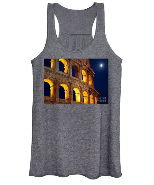 Colosseum And Moon Women's Tank Top