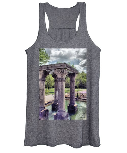 Columns In The Water Women's Tank Top