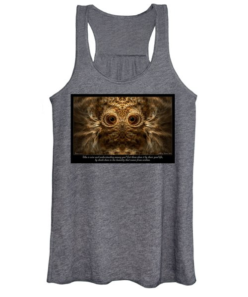 Comes From Wisdom Women's Tank Top
