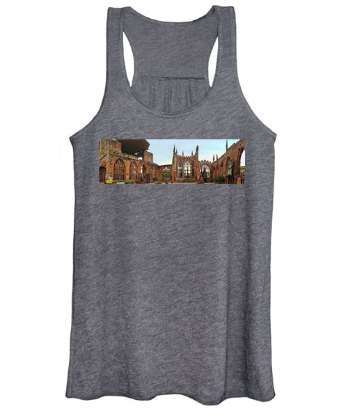 Coventry Cathedral Ruins Panorama Women's Tank Top