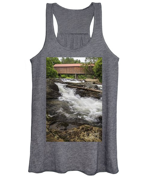 Covered Bridge And Waterfall Women's Tank Top