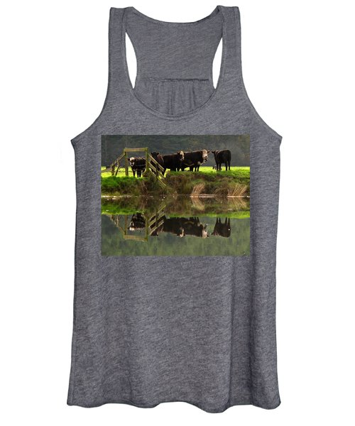 Cow Reflections Women's Tank Top