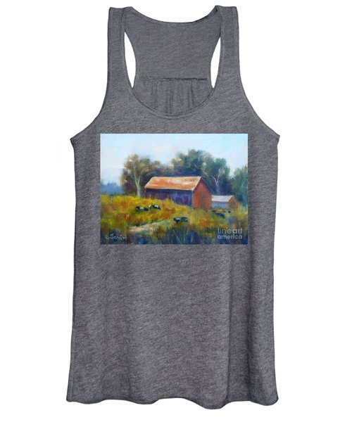 Cows By The Barn Women's Tank Top