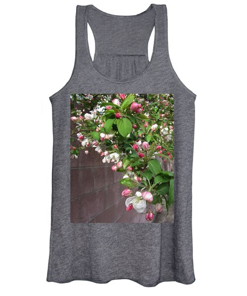 Crabapple Blossoms And Wall Women's Tank Top