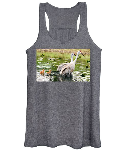 Crane Family Goes For A Swim Women's Tank Top
