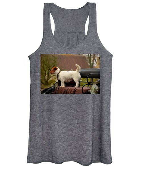 Cute Dog On Carriage Seat Bruges Belgium Women's Tank Top