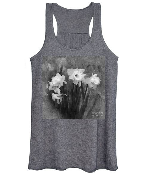 Daffodils In Black And White Women's Tank Top