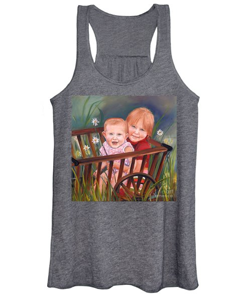 Daisy - Portrait - Girls In Wagon Women's Tank Top