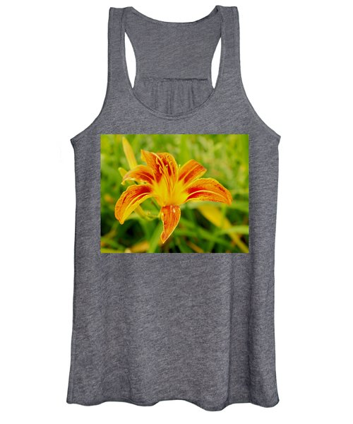 Women's Tank Top featuring the photograph Day Lily 4 by John Feiser