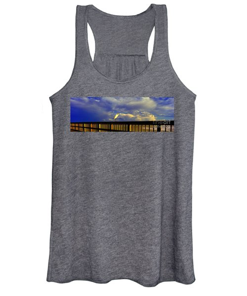 Daytona Beach Rail Bird Sun Glow Pier  Women's Tank Top