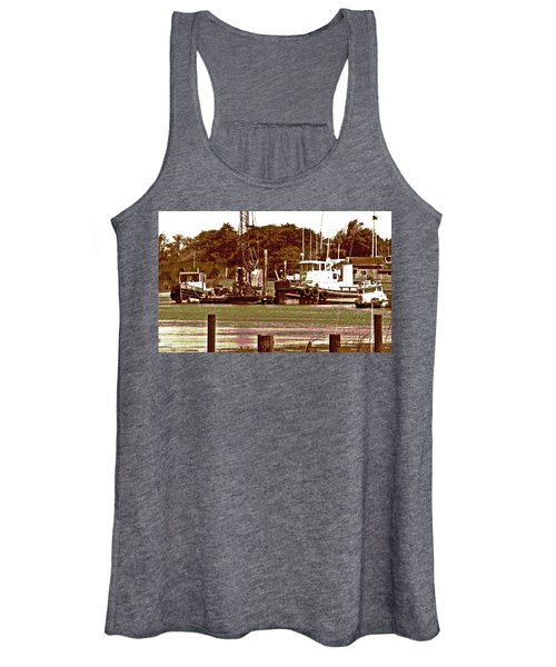 Delta Tug Boats At Work Women's Tank Top