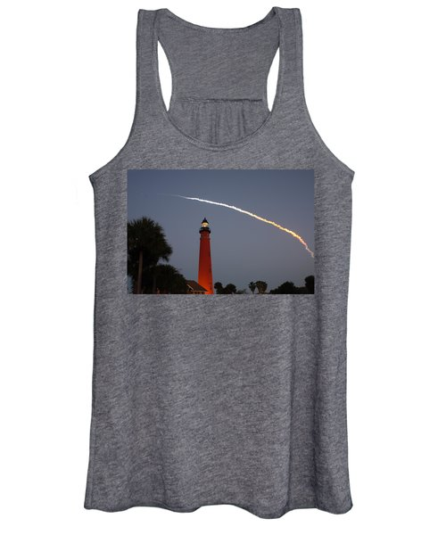 Discovery Booster Separation Over Ponce Inlet Lighthouse Women's Tank Top