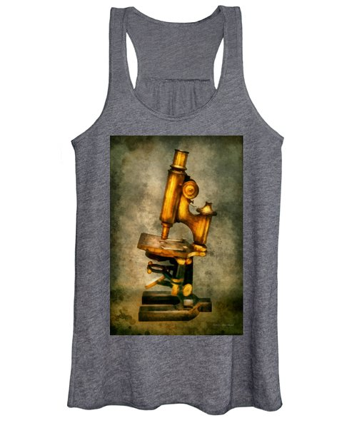 Doctor - Microscope - The Start Of Modern Science Women's Tank Top