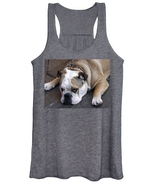 Women's Tank Top featuring the photograph Dog. Tired. by Rick Locke