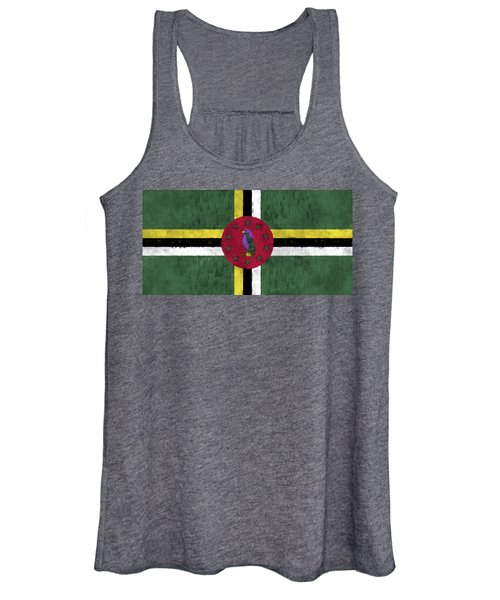 Dominica Flag Women's Tank Top