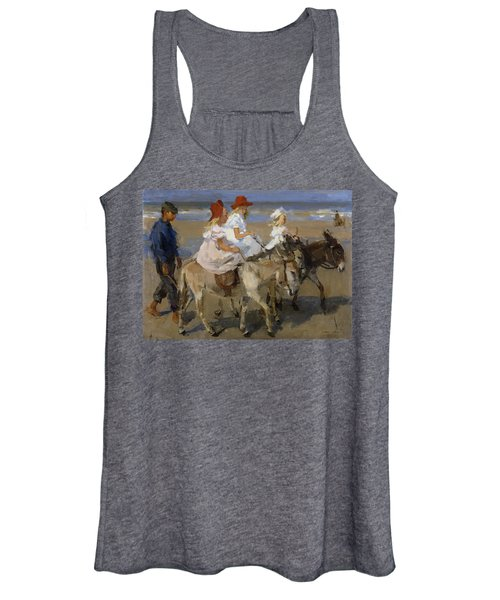 Donkey Rides Along The Beach Women's Tank Top