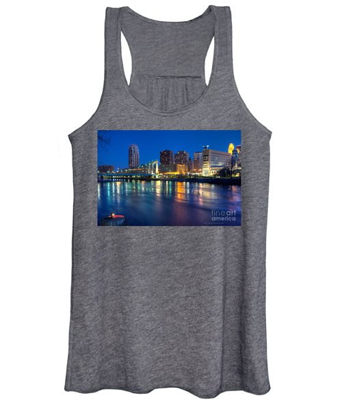 Downtown Minneapolis Skyline Hennepin Avenue Bridge Women's Tank Top