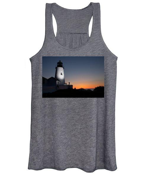 Dramatic Lighthouse Sunrise Women's Tank Top