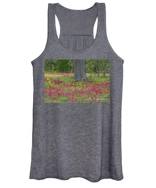 Drummonds Phlox And Crown Tickweed Central Texas Women's Tank Top
