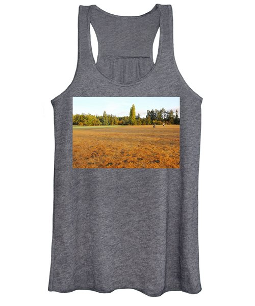 Early Fall Morning In The Rough On The Golf Course Women's Tank Top