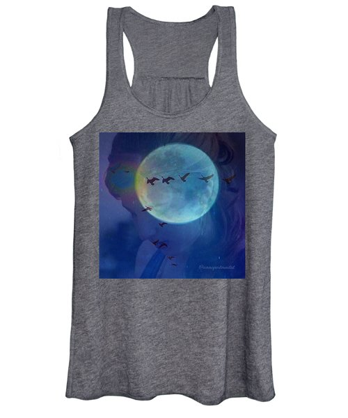 Edit To The Poem Oh Moon Women's Tank Top