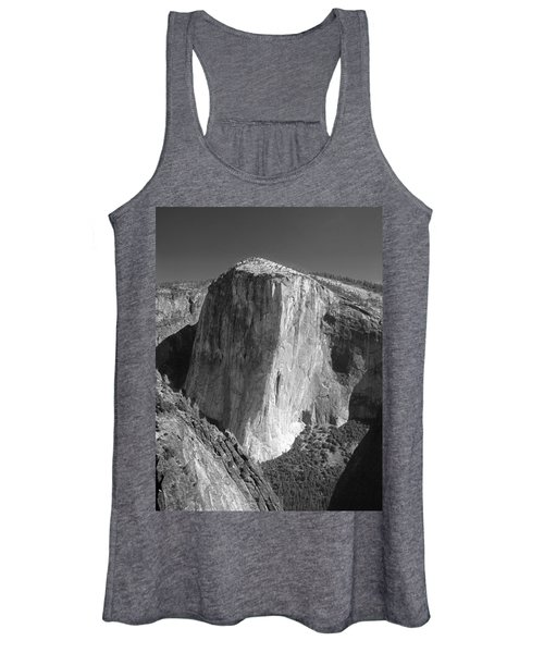 106663-el Capitan From Higher Cathedral Spire, Bw Women's Tank Top