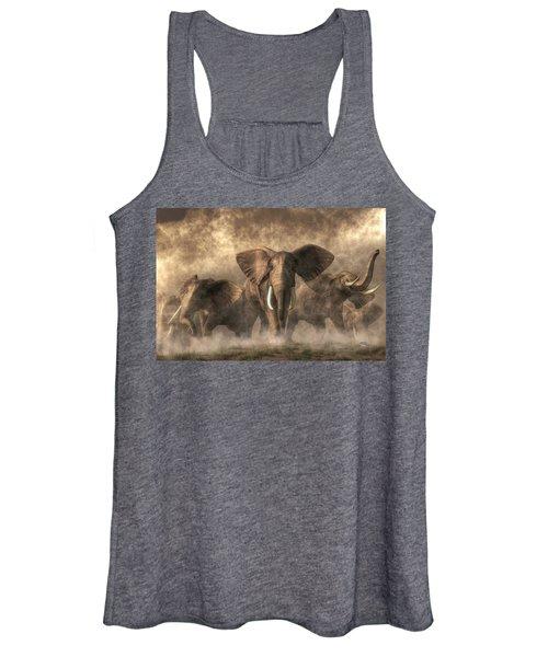 Elephant Stampede Women's Tank Top