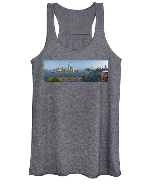 Elevated View Of Skylines, Oriental Women's Tank Top