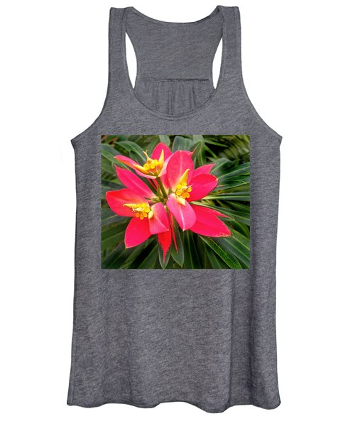 Exotic Red Flower Women's Tank Top