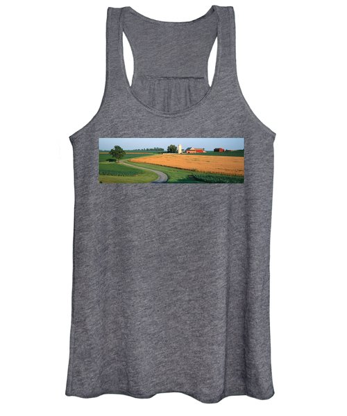 Farm Nr Mountville Lancaster Co Pa Usa Women's Tank Top