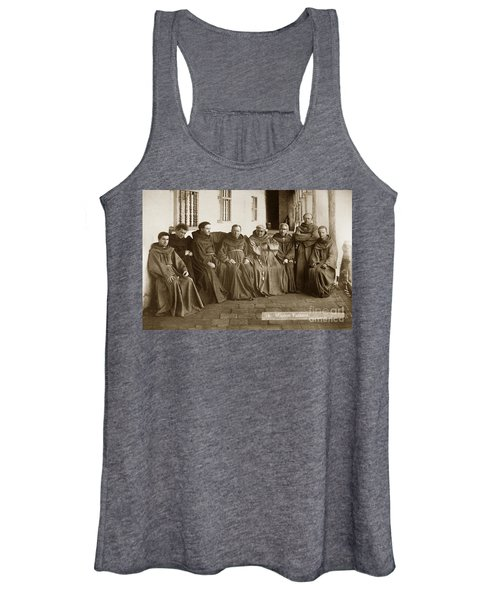 Fathers O'keefe And Sanchez With The Franciscan Brothers Of Mission Santa Barbara 1883 Women's Tank Top