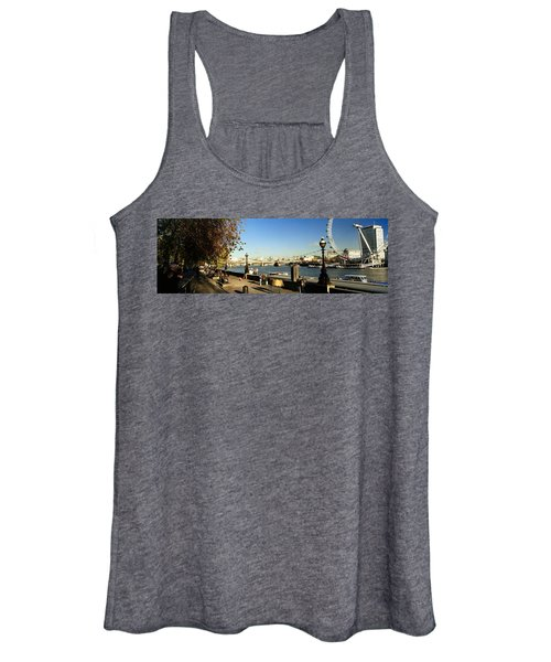 Ferris Wheel At The Riverbank Women's Tank Top