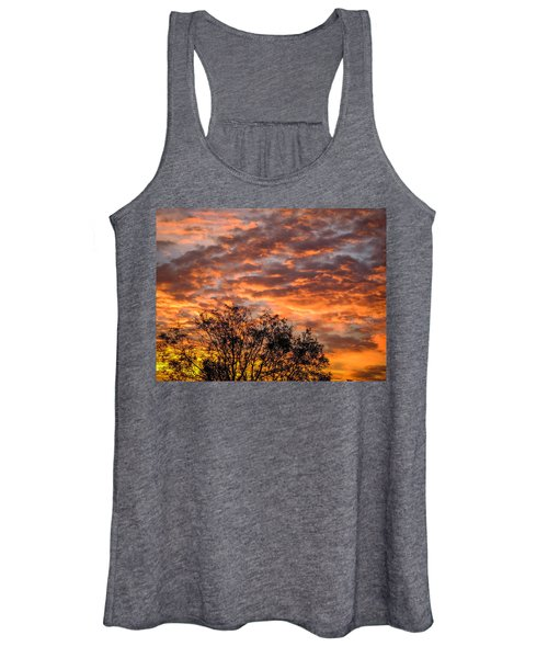 Women's Tank Top featuring the photograph Fiery Sunrise Over County Clare by James Truett