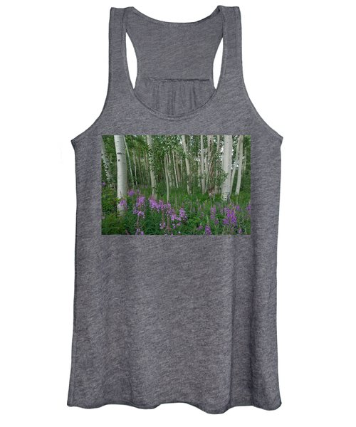 Fireweed And Aspen Women's Tank Top