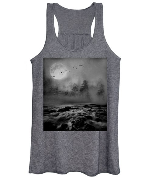 First Snowfall Geese Migrating Women's Tank Top