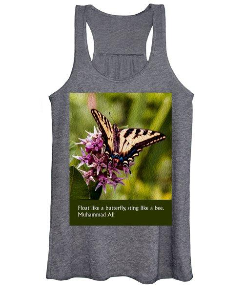 Float Like A Butterfly Women's Tank Top