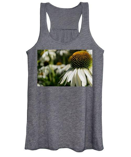 Flowers - Echinacea White Swan Women's Tank Top
