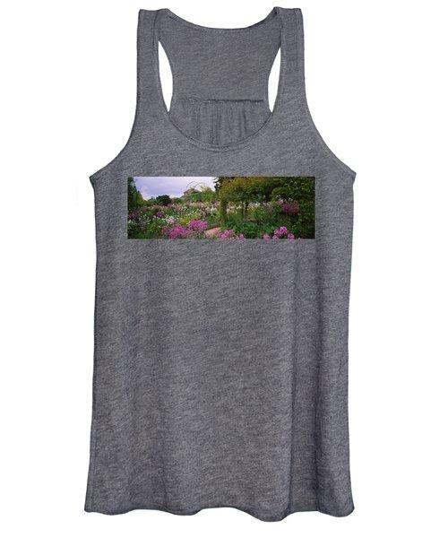 Flowers In A Garden, Foundation Claude Women's Tank Top