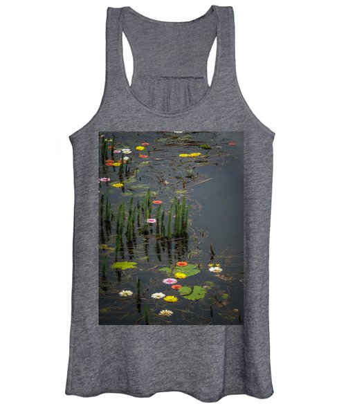 Women's Tank Top featuring the photograph Flowers In The Markree Castle Moat by James Truett
