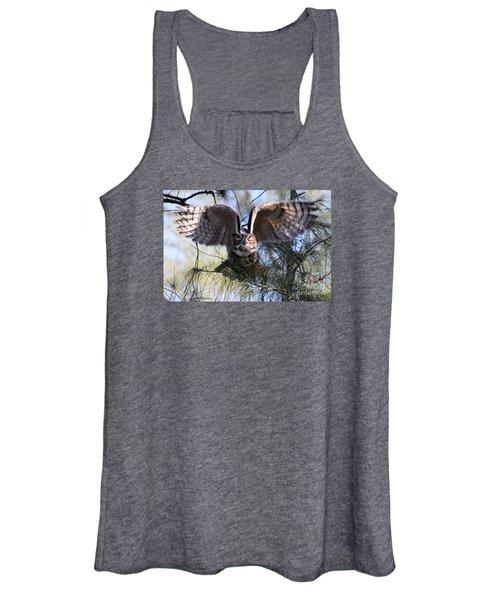 Flying Blind - Great Horned Owl Women's Tank Top