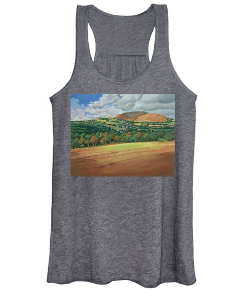 From The Train South Devon, No.2 Oil On Canvas Women's Tank Top