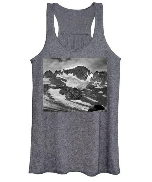 509427-bw-gannett Peak And Gooseneck Glacier, Wind Rivers Women's Tank Top