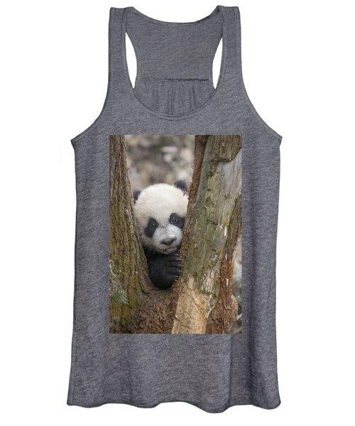 Giant Panda Cub Bifengxia Panda Base Women's Tank Top