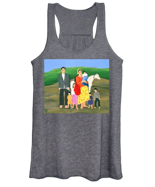 Gipsy Family, 1986 Oil On Canvas Women's Tank Top