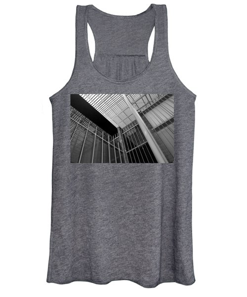 Glass Steel Architecture Lines Black White Women's Tank Top