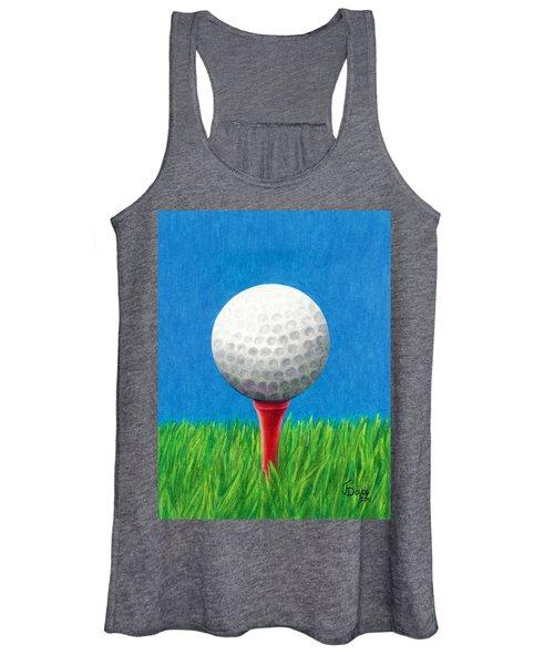 Golf Ball And Tee Women's Tank Top