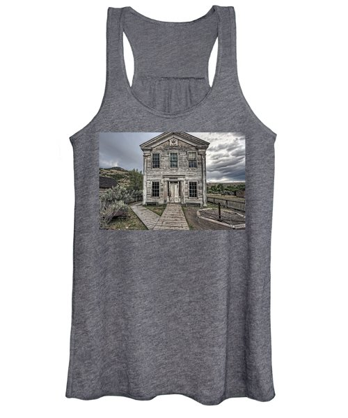 Gothic Lodge And School  - Bannack Montana Ghost Town Women's Tank Top