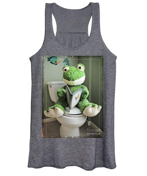 Green Frog Potty Training - Photo Art Women's Tank Top
